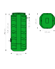 SANIDRAIN 500V POMPE DR1 - FIL D'EAU D'ARRIVEE PROFOND JUSQU'A -1.10 CM